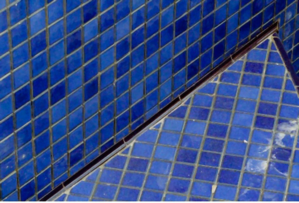 Cantoneira Convexa para Piscina 3,5x25  Azul Celeste