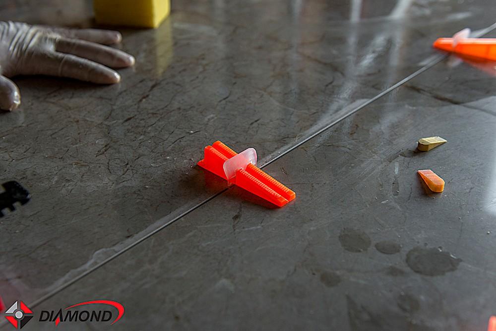 Clips Sharp 1mm para Nivelamento de Piso