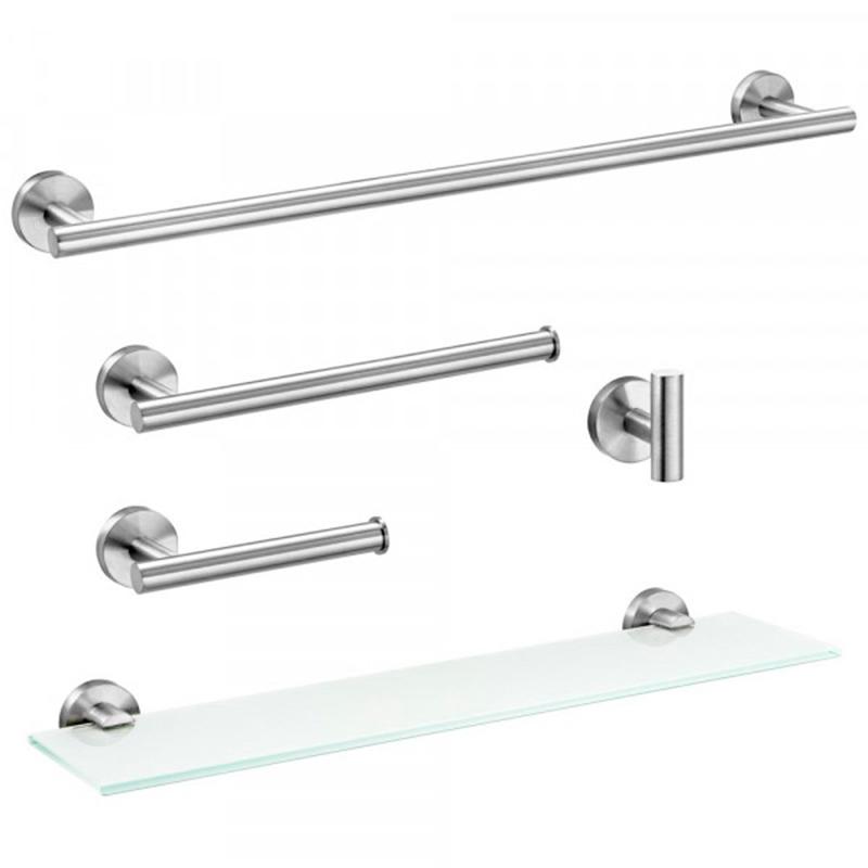 Kit de Acessórios para Banheiro Tarsila Escovado