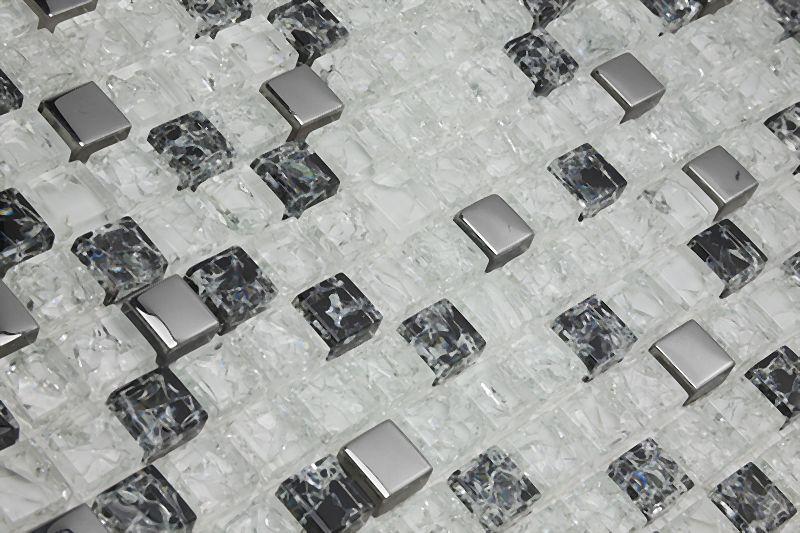Pastilha de Vidro 8mm com Pedras Naturais e Metais - 13 Modelos