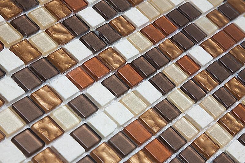 Pastilha de Vidro com Pedras Naturais e Metais - 13 Modelos