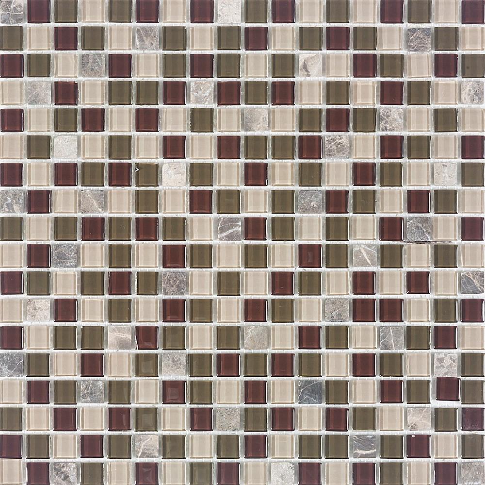 Pastilha de Vidro com Pedras Naturais e Metais TS 515