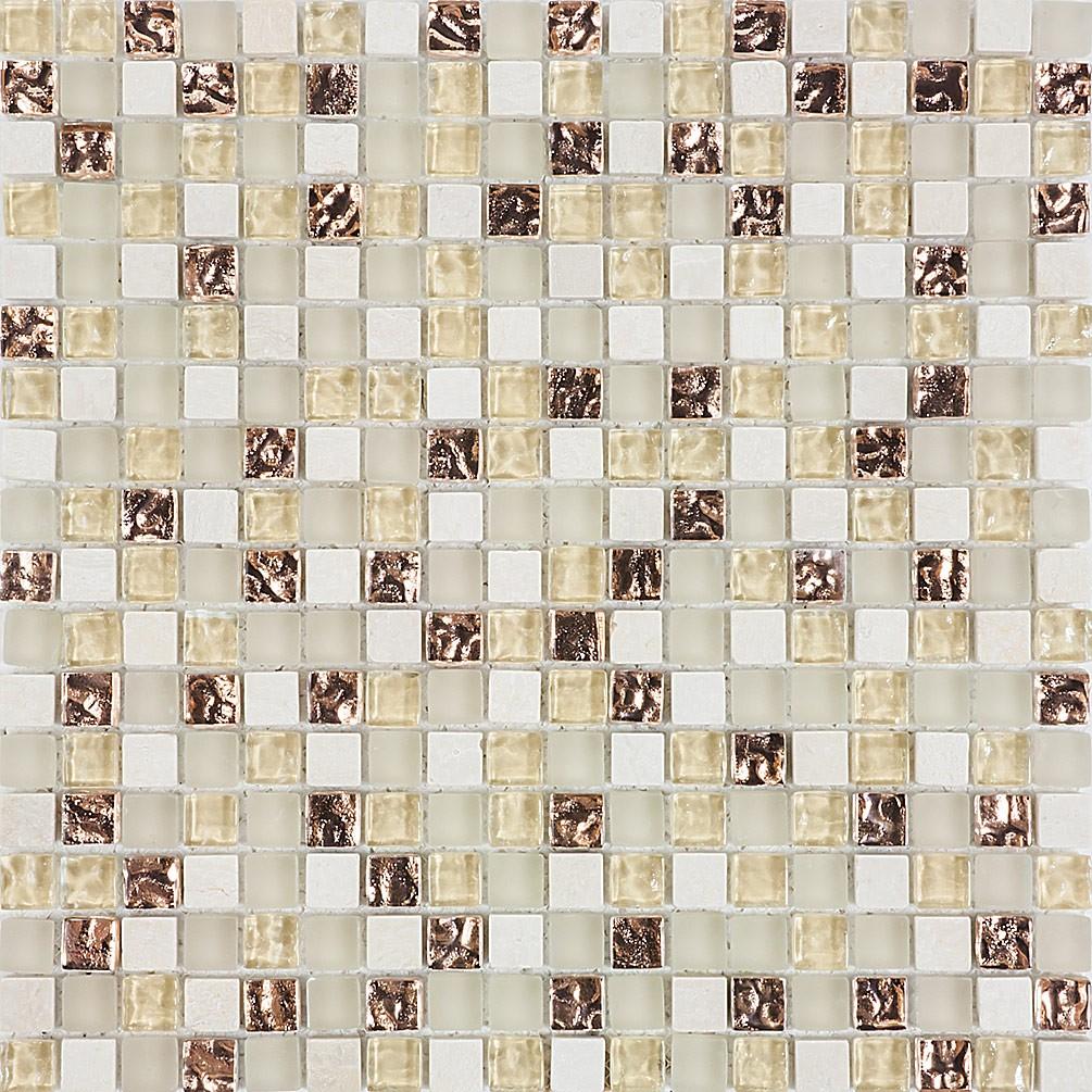 Pastilha de Vidro com Pedras Naturais e Metais TSCR 266