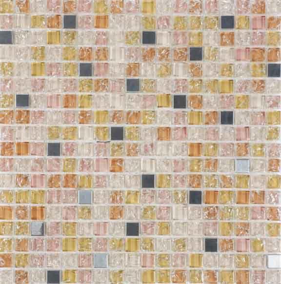 Pastilha de Vidro com Pedras Naturais e Metais TSCR 285