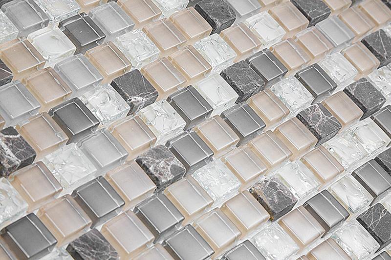 Pastilha de Vidro com Pedras Naturais e Metais TSCR 289