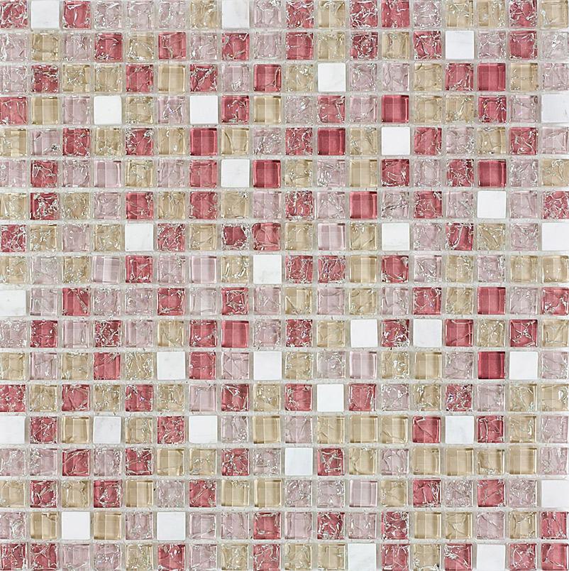 Pastilha de Vidro com Pedras Naturais e Metais TSCR 292
