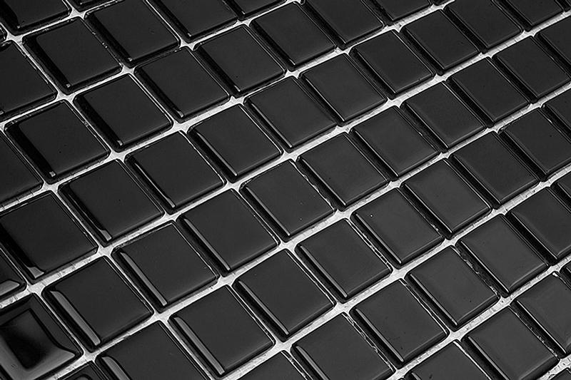 Pastilha de Vidro Cristal Cores Lisas - 6 Cores