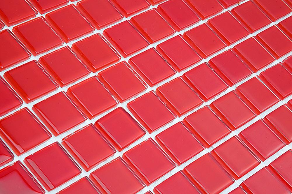 Pastilha de Vidro Cristal Vermelha SM 40