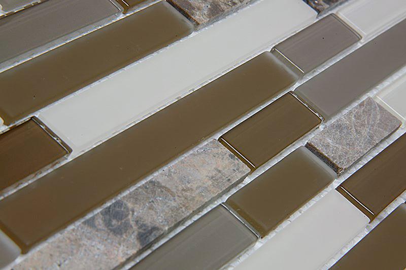 Pastilha de Vidro e Pedras Naturais Filetto - 3 Modelos