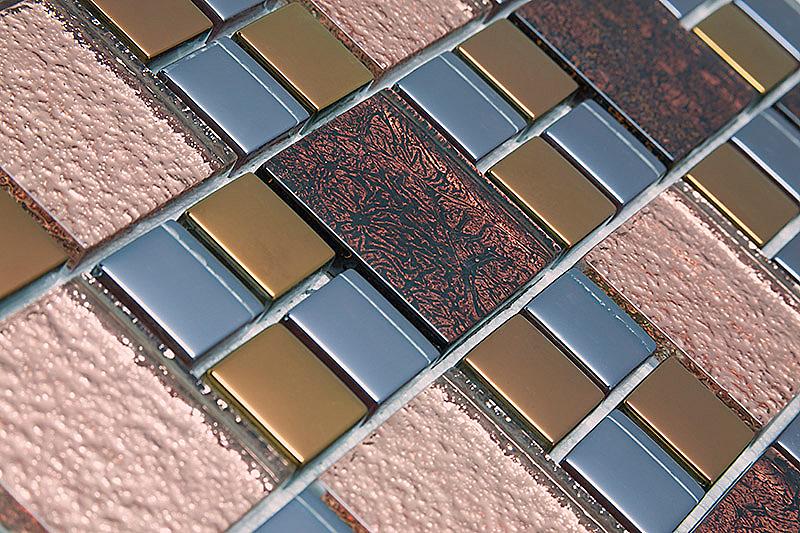 Pastilha de Vidro com Metal Modulare Especial RB 146794