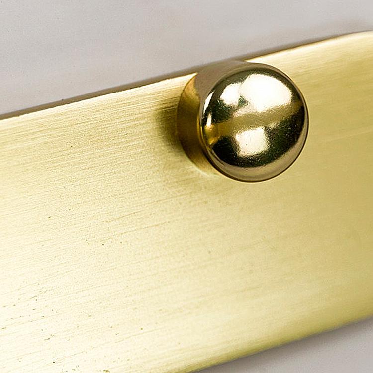 Prateleira de Vidro Miró Dourado