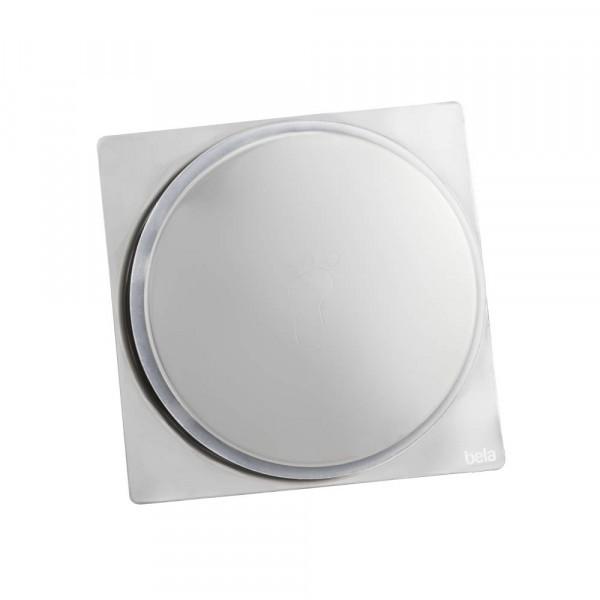 Ralo Inteligente Click para Banheiro 10x10cm Inox Espelhado