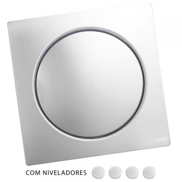 Ralo Inteligente Click para Banheiro 15x15cm Inox Espelhado
