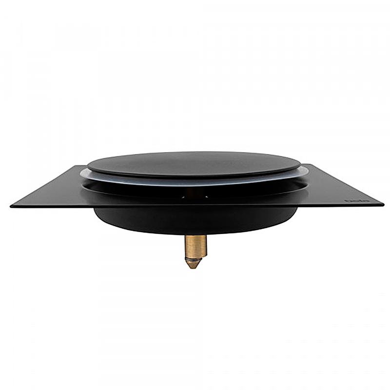 Ralo Inteligente Click para Banheiro 15x15cm Inox Preto