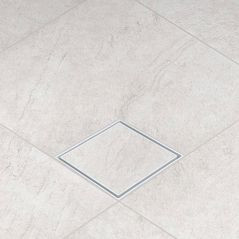 Ralo Oculto Invisível com Encaixe Universal Branco