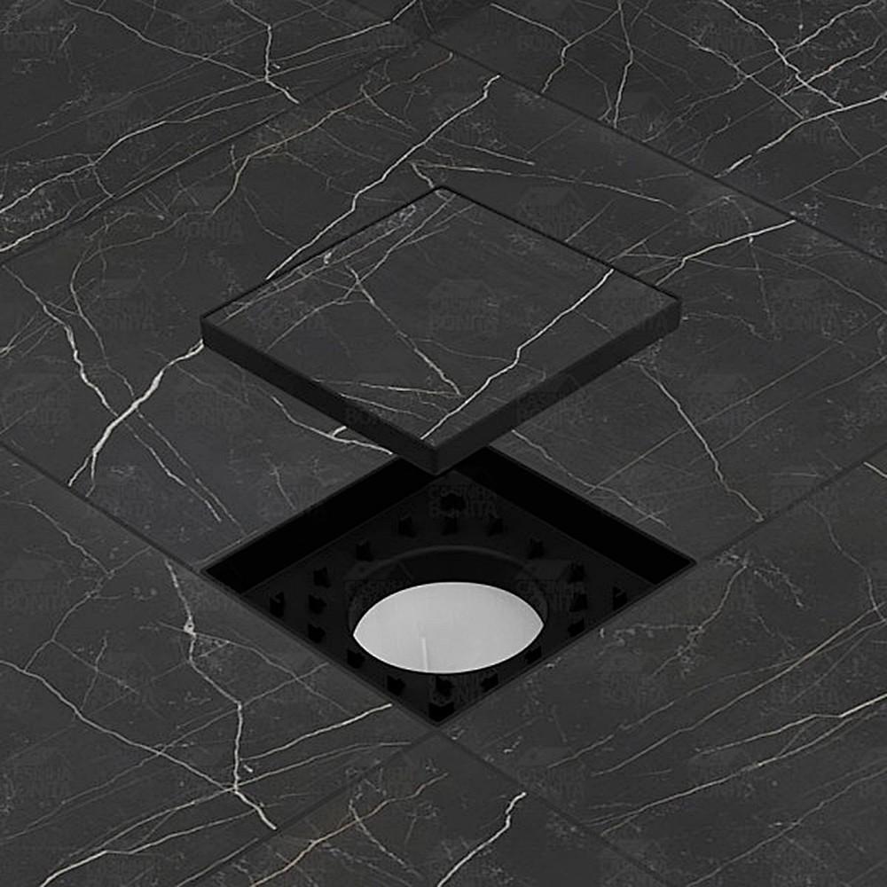 Ralo Oculto Invisível Preto