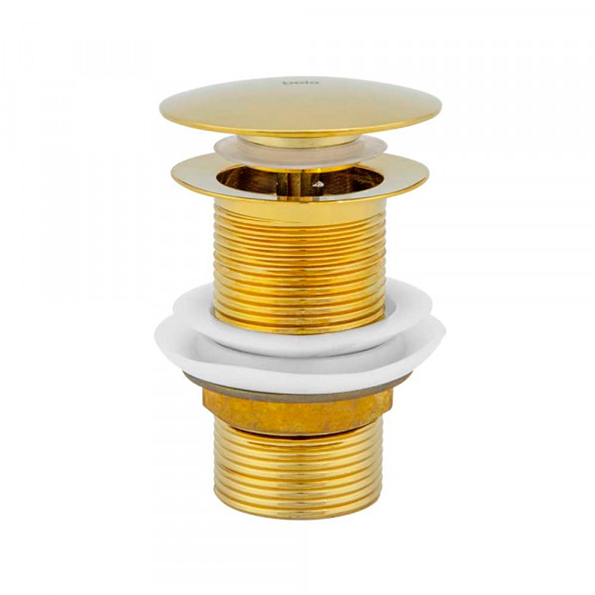 Válvula Click para Cubas Inox Dourada