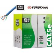 Cabo De Rede 200 Metros Soho Plus Furukawa Cat5e Cmx Azul