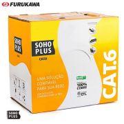 Cabo De Rede Cat6 Soho Plus Furukawa Azul 100m + 10 Rj45 Cat6 + 10 Capa Snap Azul + Alicate + Testador com Bateria