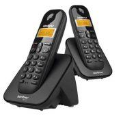 Telefone Sem Fio Intelbras TS 3112 + 1 Ramal Preto