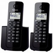 Telefone Sem Fio Panasonic KX-TGB112 Duo Preto