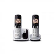 Telefone Sem Fio Panasonic KX-TGC212LB1 Viva Voz Duo Prata