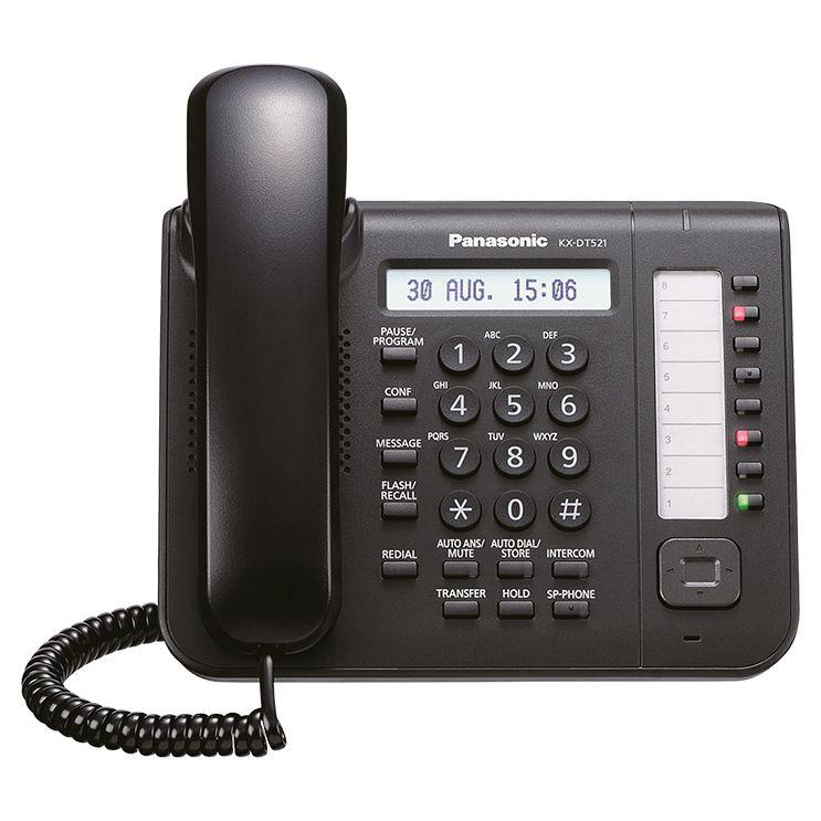 Aparelho KS Panasonic Kx-DT521X-B Preto NS500