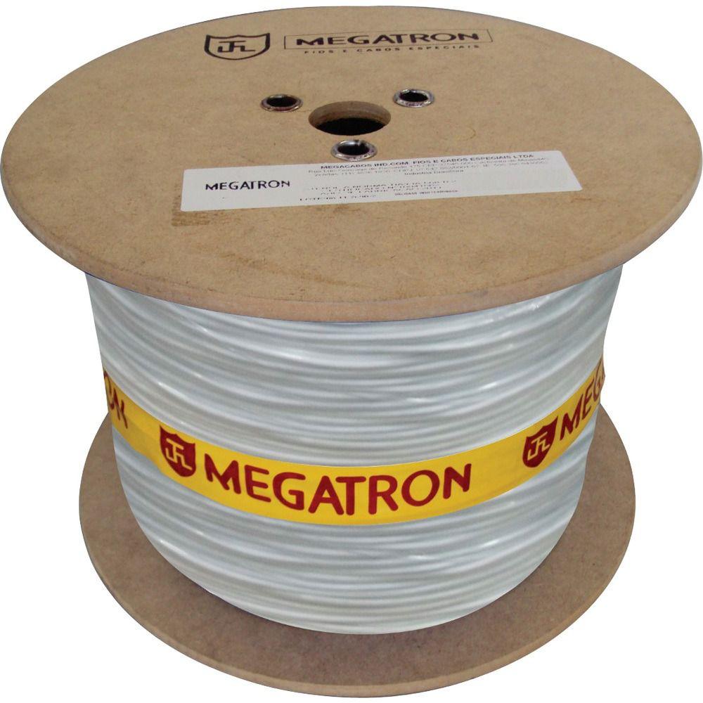 Cabo Coaxial 4 Mm 2x26AWG Megatron Flexivel 85% Bipolar Bobina 300 Metros