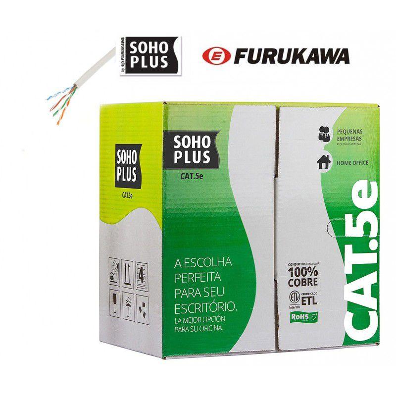 Cabo de Rede Cat5e Soho Plus Branco 200 mts + 20 Rj45 Cat5e