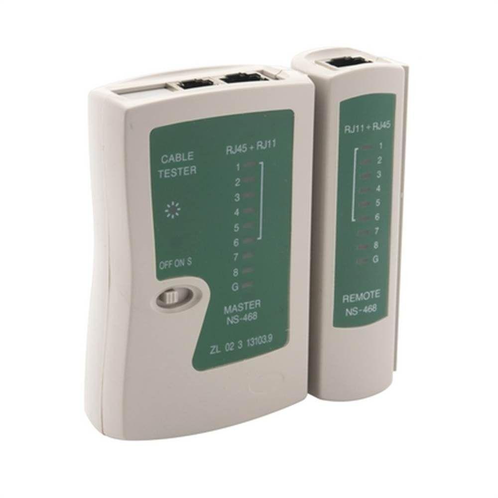 Cabo de Rede Cat5e Soho Plus Branco 30 mts + 20 Rj45 Cat5e + 20 Capa Snap + Testador com bateria
