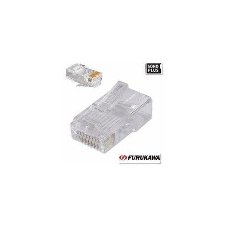 Cabo de Rede Cat5e Soho Plus Branco 50 mts + 20 Rj45 Cat5e com capa Snap + Testador com bateria