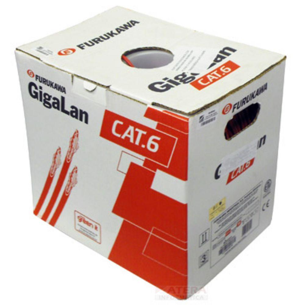 Cabo de Rede Cat6 150 Metros Furukawa Gigalan 23awgx4p Vermelho