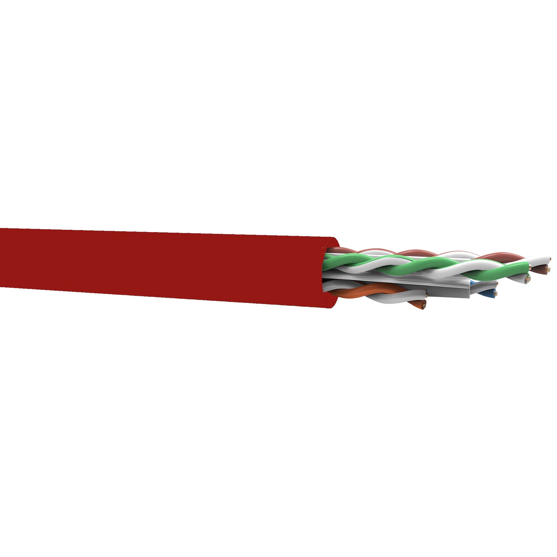 Cabo de Rede Cat6 50 Metros Furukawa Gigalan Vermelho + Alicate + Testador