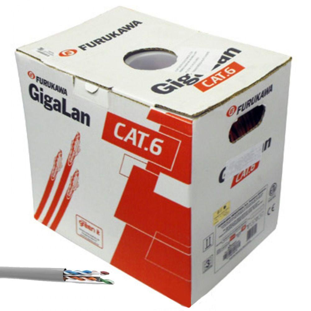 Cabo de Rede Cat6 Gigalan Furukawa Cinza 25 m + 10 Rj45 Cat6 Furukawa Gigalan
