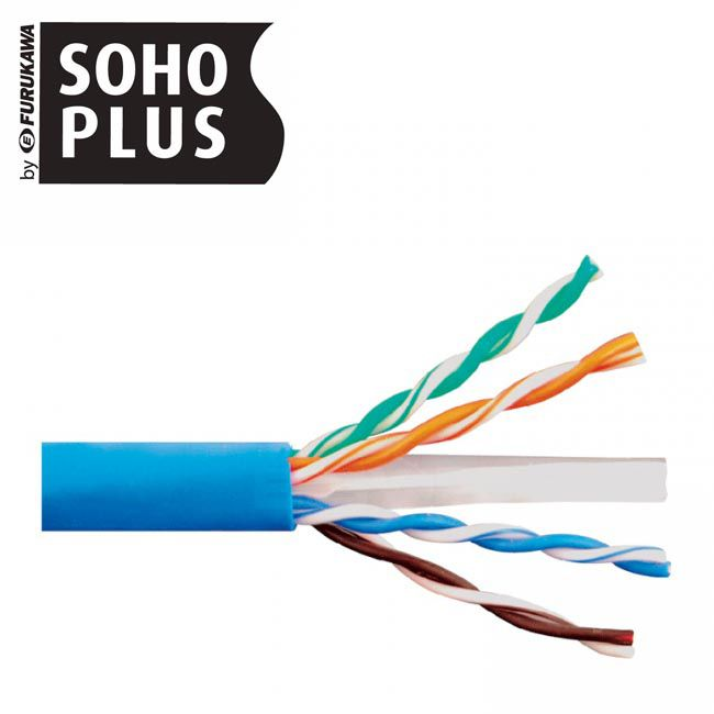 Cabo De Rede Cat6 Soho Plus Azul 15m + 02 Rj45 Cat6 + Alicate