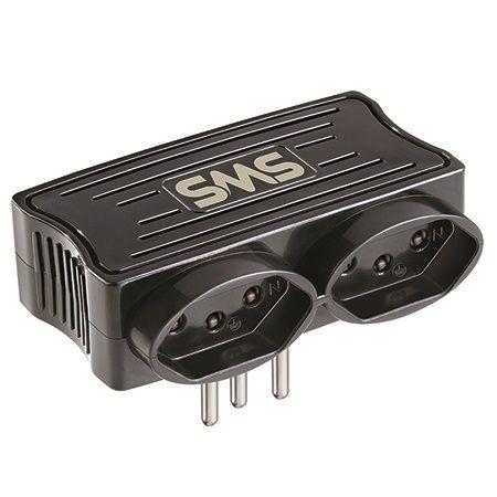 Carregador SMS 2 USB + 2 Tomadas