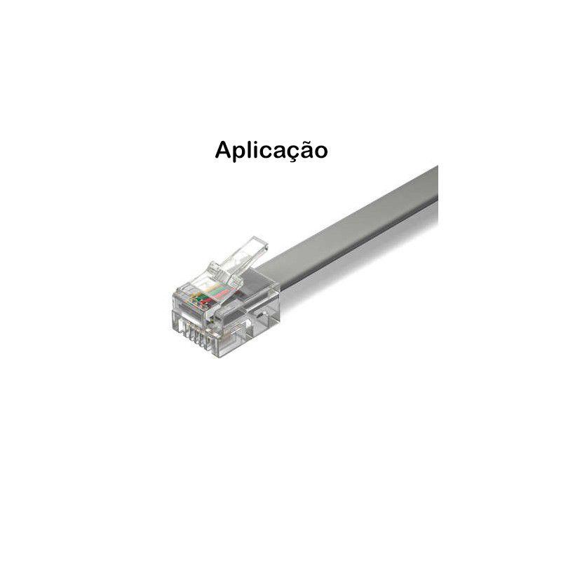 Conector RJ11 6X4 vias Pacote 100 Peças