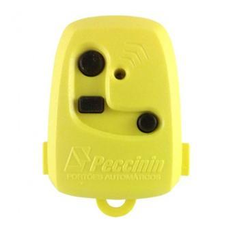 Controle Portão TX 3C Peccinin 433,92 MHZ Amarelo