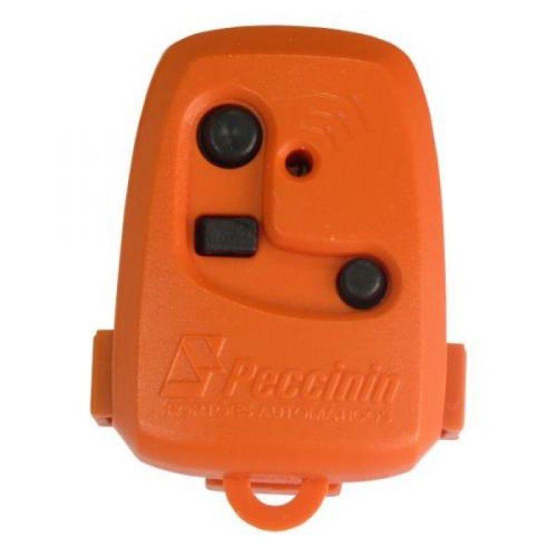 Controle Portão TX 3C Peccinin 433,92 MHZ Laranja