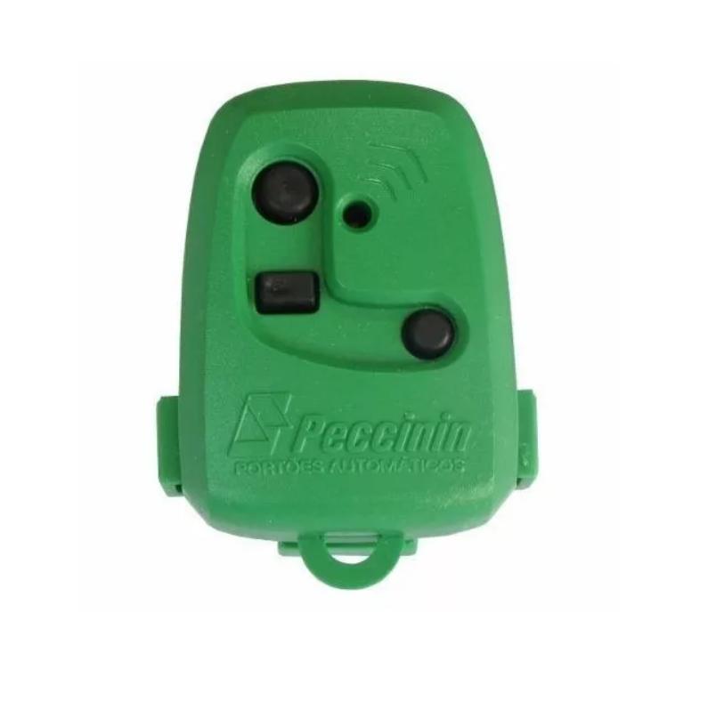 Controle Portão TX 3C Peccinin 433,92 MHZ Verde