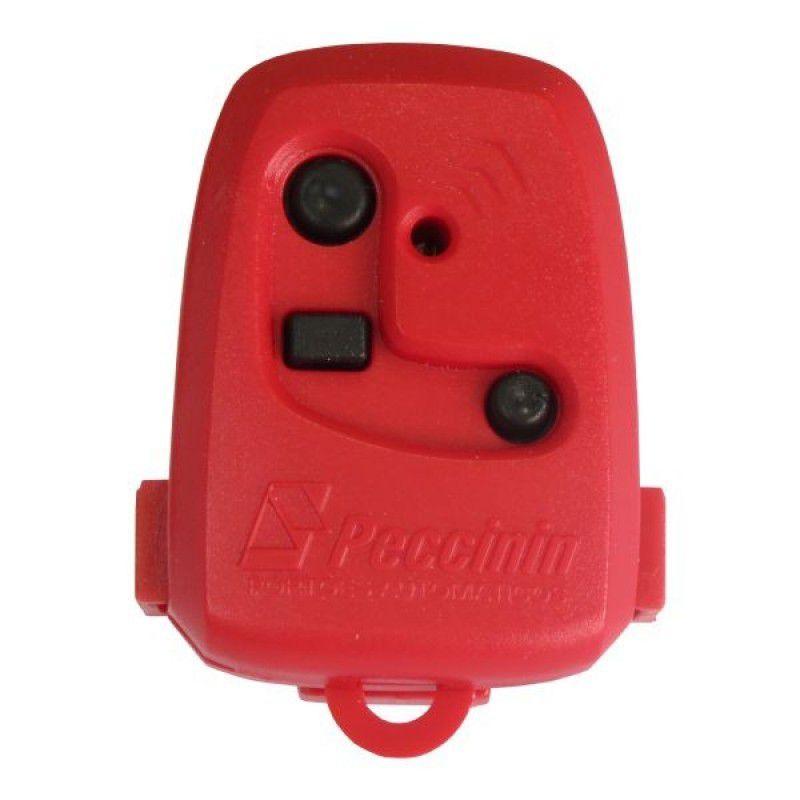 Controle Portão TX 3C Peccinin 433,92 MHZ Vermelho