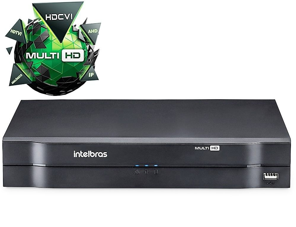 DVR Intelbras 08 Canais MHDX 1008 FULL HD 1080P MULT HD