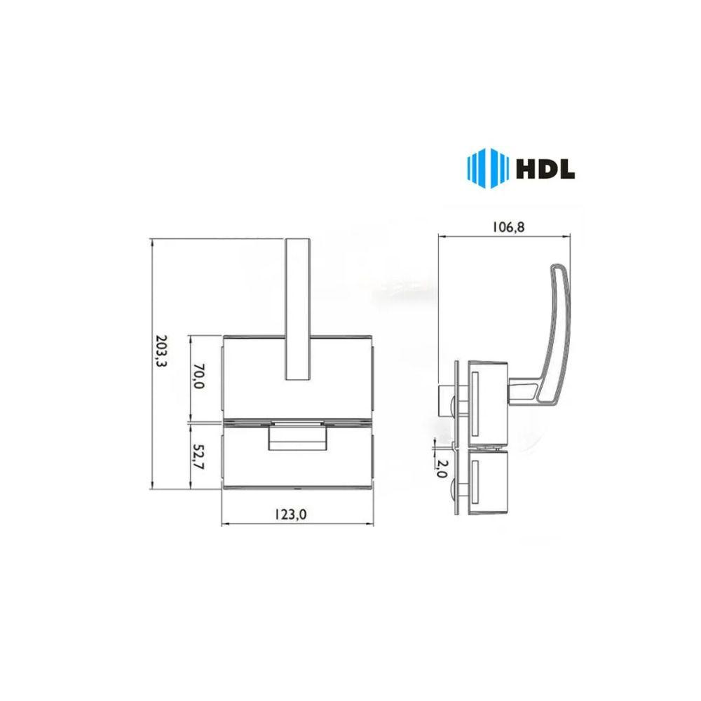Fechadura HDL Porta De Vidro 2 F PV902F Inox