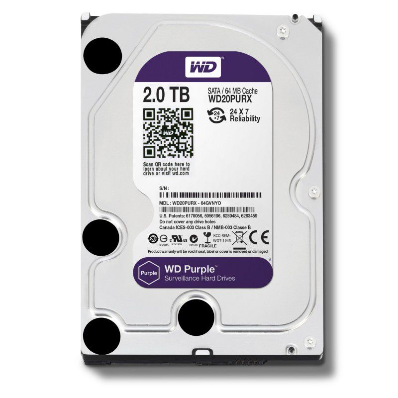 HD Western Digital 2 Tera Purple WD20PURX