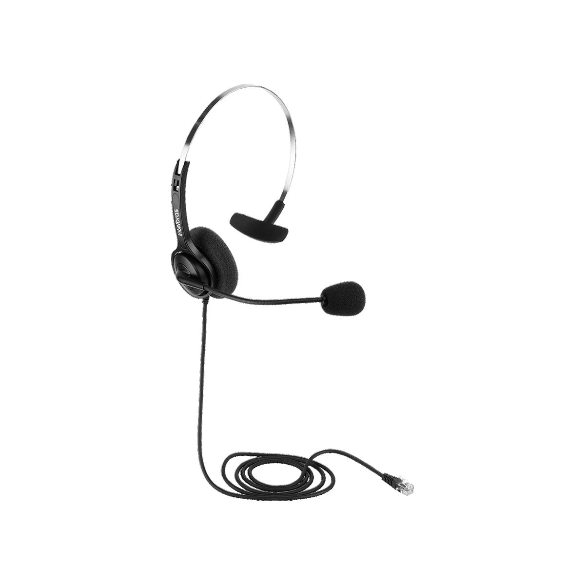 Headset Intelbras CHS 40 RJ9 Parte Superior Base Discada