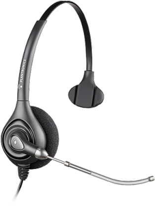 Headset Plantronics HW251 64336-31 Tubo Removível