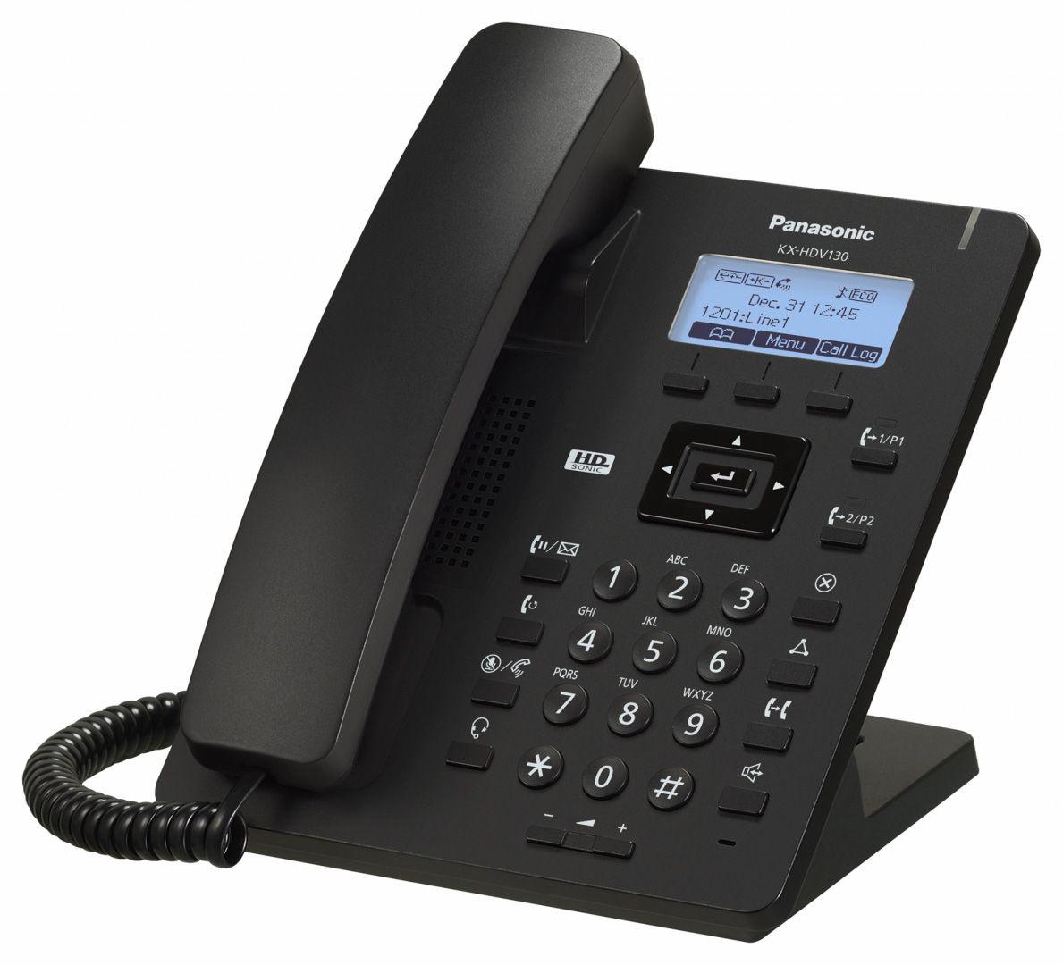 Aparelho IP Panasonic KX-HDV130XB IP-SIP Preto (SEM FONTE)