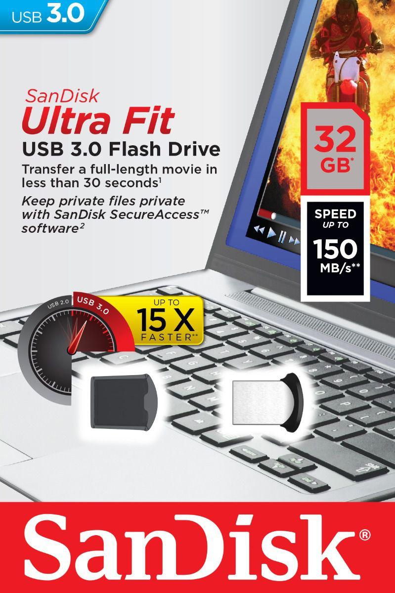 Pen Drive 32 GB Sandisk Ultra FIT Z43 3.0