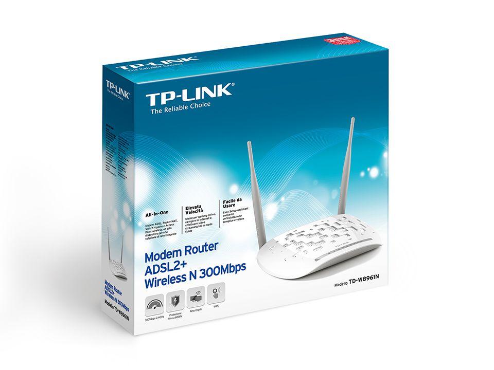 Roteador + Modem ADSL2 TP-Link TD-W8961N 300MBPS