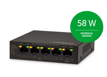 Switch 04 Portas Intelbras SF 500 Fast PoE